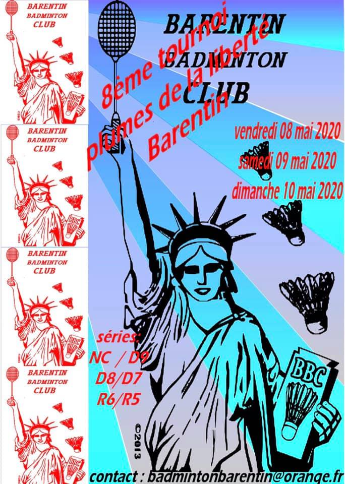 affiche tournoi barentin badminton